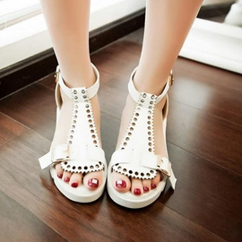 Ericdress Lovely Buckles Flat Sandals