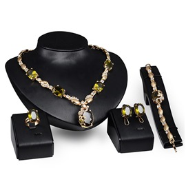 Ericdress Exaggerate Gemstone Jewelry Set