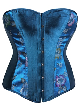 Ericdress Blue Print Smooth Surface Corset