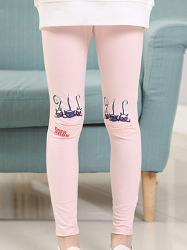 Ericdress Candy Color Cartoon Girls Leggings
