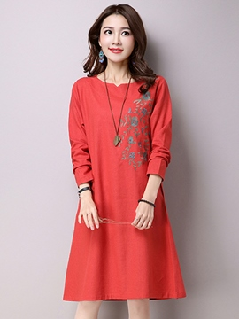 Ericdress Loose Print Casual Dress