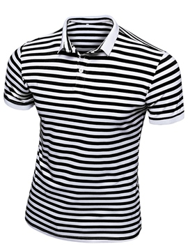 Ericdress Stripe Short Sleeve Pullover Men's T-Shirt