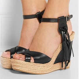 Ericdress European Tassels Wedge Sandals