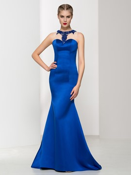 Ericdress Jewel Neck Beading Trumpet Evening Dress