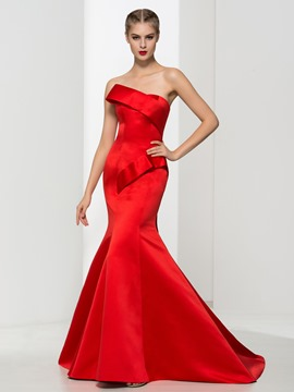 Ericdress Timeless Mermaid Strapless Long Evening Dress