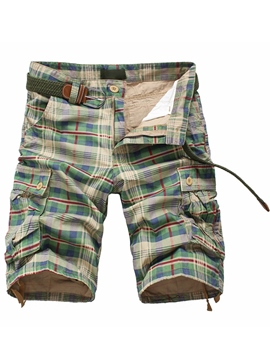 Ericdress Half Leg Plaid Men's Shorts