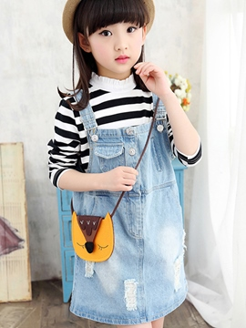 Ericdress Denim Suspender Girls Dress