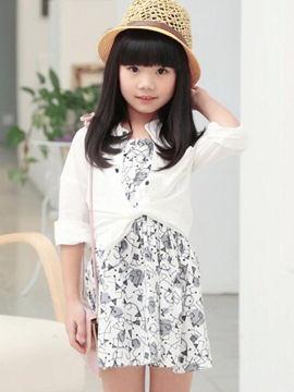 Ericdress Floral Dress Girls Outfit