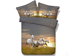 Ericdress Horses Running On Grass Print 3D Bedding Sets