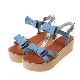Ericdress Lovely Bowtie Buckle Flat Sandals