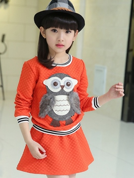 Ericdress Cartoon Casual Girls Outfit
