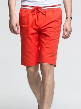 Ericdress Plain Half Leg Casual Straight Men's Shorts