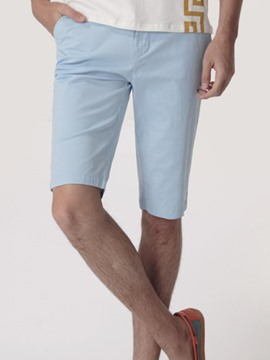 Ericdress Solid Color Half Leg Men's Shorts