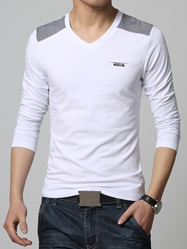 Ericdress V-Neck Slim Men's T-Shirt