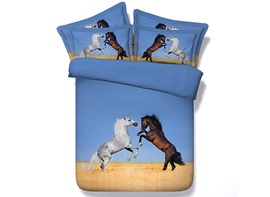 Ericdress Two Horses Jumping Print 3D Bedding Sets