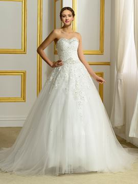 Ericdress Gorgeous Beading Sweetheart Ball Gown Wedding Dress