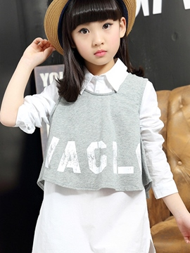 Ericdress Letter Two-Piece Girls Outfit