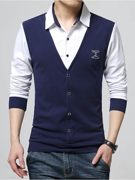 Ericdress Double-Layer Design Plus Size Men's Shirt