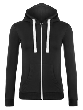Ericdress Plain Zipper Sports Hoodie