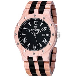 Ericdress Trendy Resin Surface Sandalwood Watch For Men