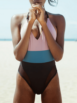 Ericdress Color Block Halt Backless Sexy Monokini