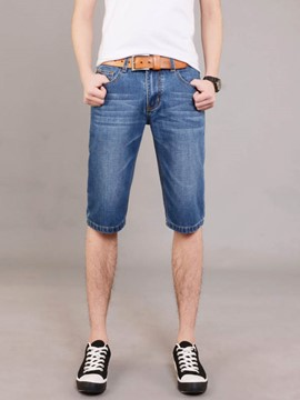 Ericdress Half Leg Casual Denim Men's Shorts