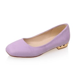Ericdress Square Toe Flat Heel Slip-On Women's Flats