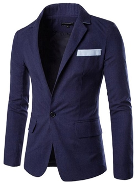 Ericdress Patchwork Stand Collar Slim Men's Blazer