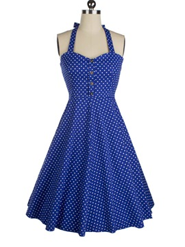 Ericdress Vintage Polka Dots Casual Dress
