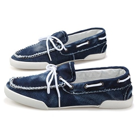 Ericdress Denim Flat Heel Bowtie Men's Loafers