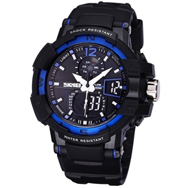 Luminous Waterproof Double Machine Sports Watch