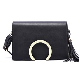 Ericdress Semicircle Lock Tassel Crossbody Bag
