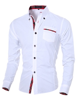 Ericdress Patchwork Slim Men's Shirt
