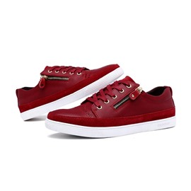 Ericdress Solid Color Oblique Zippered Sneakers