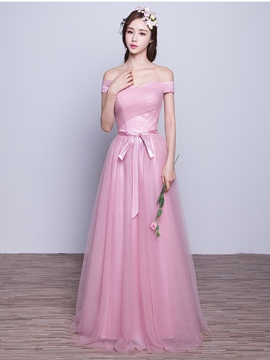 Ericdress Elegant Off The Shoulder Long Bridesmaid Dress