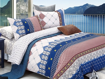 Ericdress Gentleman Style Geometric Cotton Bedding Sets
