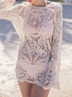 Ericdress White Jacquard Loose Cover-Up