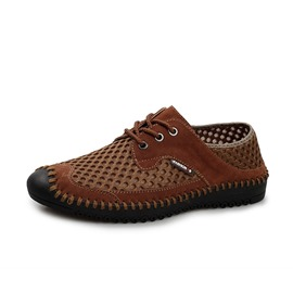 Ericdress Breathable Round Toe Thread Lace-Up Men's Shoes