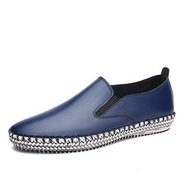Ericdress Patent Leather Flat Heel Men's Loafers