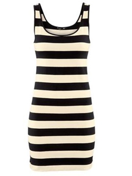 Sexy Cotton Sleeveless Round Neck Slim Dress