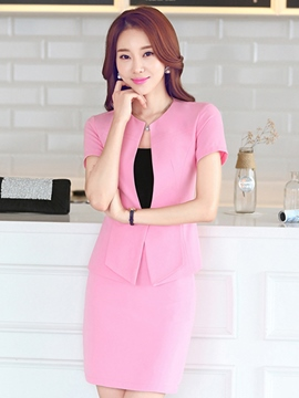 Ericdress Solid Color Slim Suit