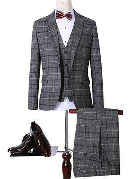 Ericdress Elegant Slim Three-Piece of Men's Suit