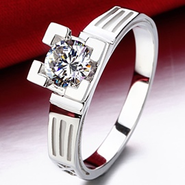 Ericdress Eiffel Tower Design Diamond Ring
