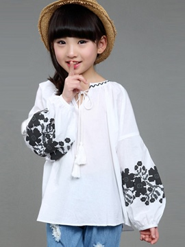 Ericdress Print Loose Girls Shirt