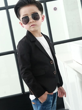 Ericdress Single-Breasted Boys Blazer