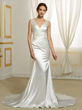 Ericdress High Quality Backless Mermaid Wedding Dress