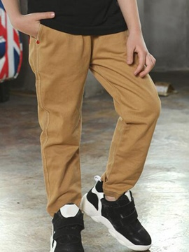 Ericdress Solid Color Boys Casual Pants