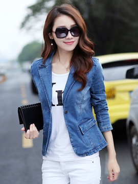 Ericdress Elegant Lapel Denim Outerwear