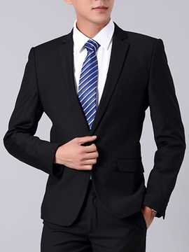 Ericdress Black One Button Classic Men's Suit