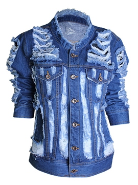 Ericdress Cool Hole Denim Outerwear